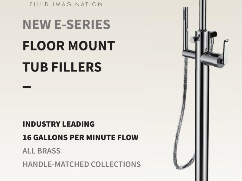 New Floor Mount Tub Fillers from Santec