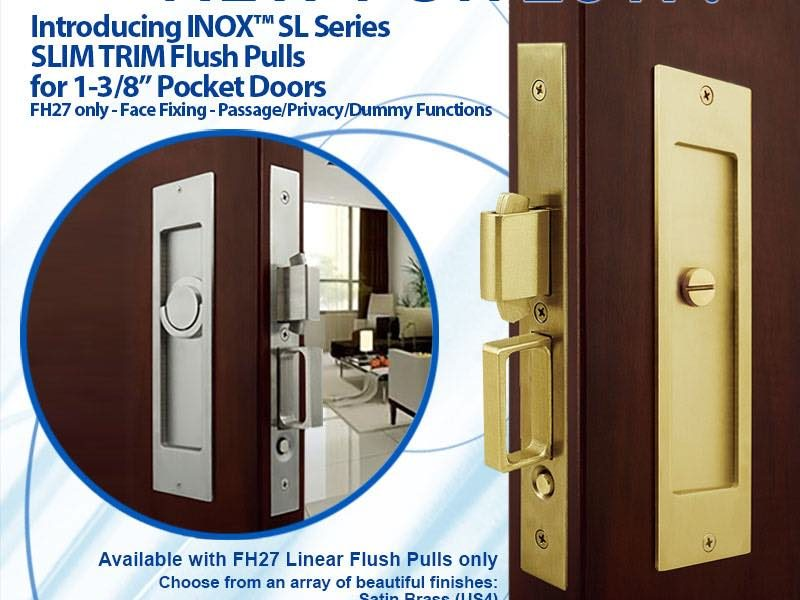 In Stock Now: INOX SL Slim Trim for 1-3/8″ Sliding & Pocket Doors