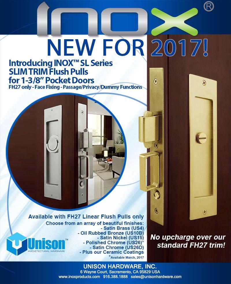In Stock Now Inox Sl Slim Trim For 1 38 Sliding Pocket Doors