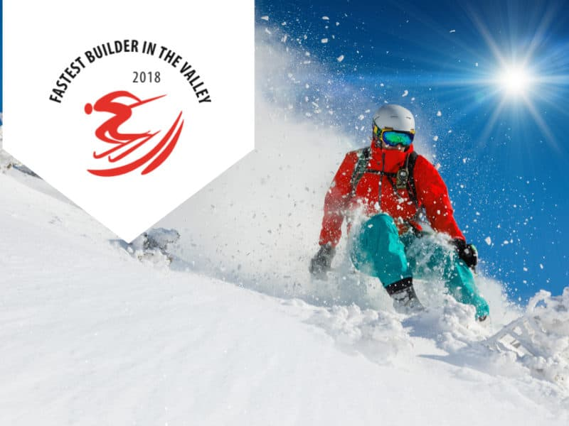 Don't Miss the Fastest Builder in the Valley Charity Ski Race