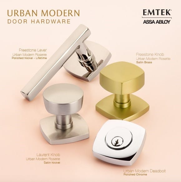 Urban Modern Door Hardware from Emtek