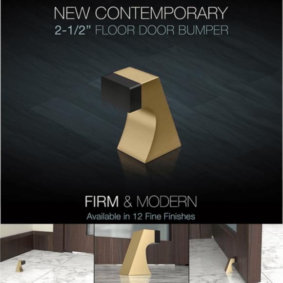 """Deltana's New Contemporary 2-1/2"""" Floor Door Bumper"""