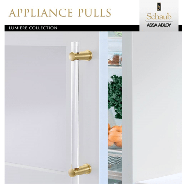 New from Schaub! Introducing Lumiere Appliance Pulls