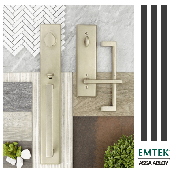 Now available! Emtek's new Sandcast Bronze Rustic Modern Rectangular Door Hardware Collection
