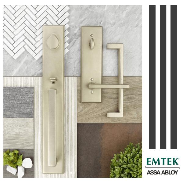 Now available! Emtek's new Sandcast Bronze Rustic Modern Rectangular Door Hardware Collection
