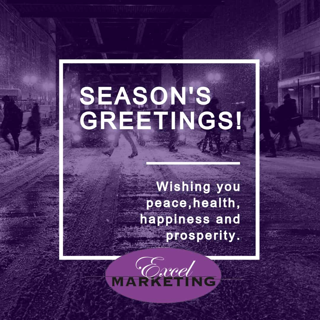 Season's Greetings from the Excel Marketing Team!