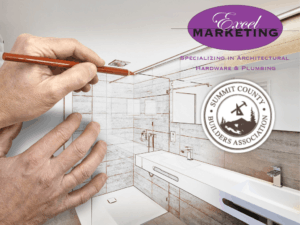 featured image showing an architect draw up plans of a dream bathroom