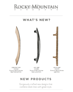 featured image showing new products from Rocky Mountain Hardware