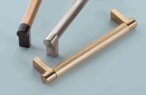 featured image showing the new Emtek Select Cabinet Pulls in mixed finishes