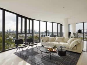 featured image showing a modern apartment that features EzyPelmet Recessed Window Pelmets
