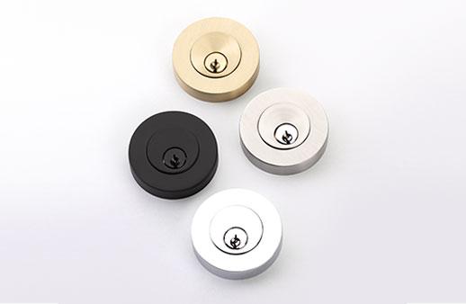 featured image shows Emtek's Modern Disc Deadbolt in 4 finishes