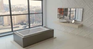 Americh Free Standing Bathtub in a modern bathroom