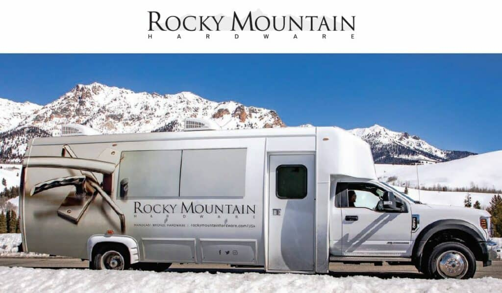 featured image showing a 31' fully customized bus outfitted with Rocky Mountain Hardware products