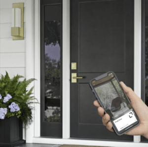 featured image showing RMH new Bluetooth Smart Deadbolt on a black door