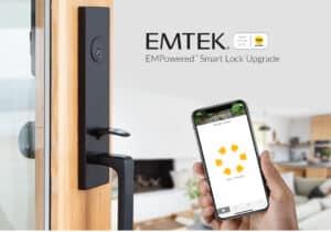 featured image showing EMTEK's new EMPowered™ Motorized Smart Lock Upgrade