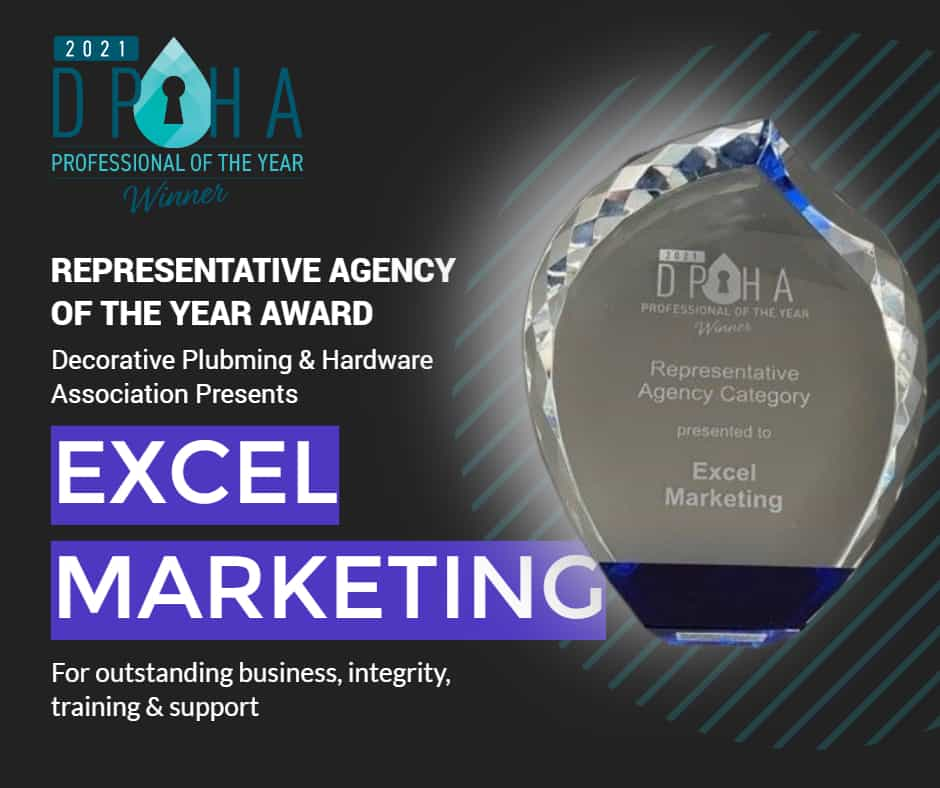 featured image showing the DPHA Award presented to Excel Marketing for Best Agency of the Year 2021